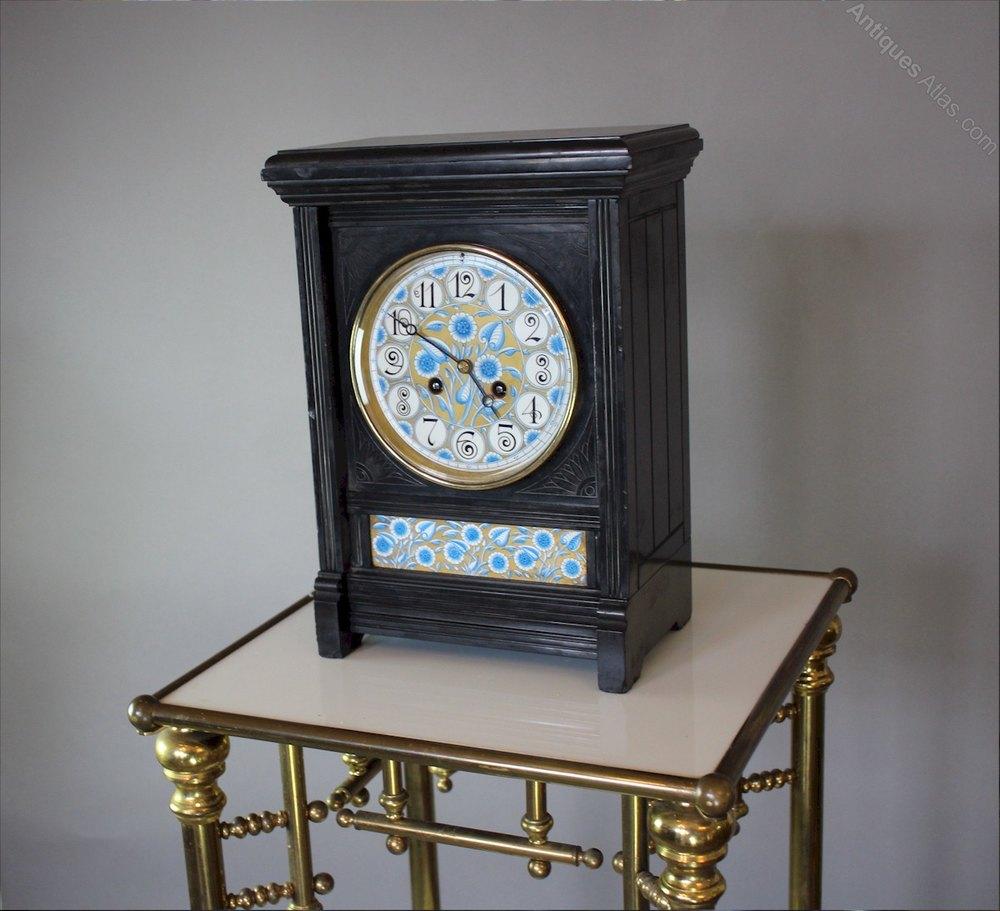 Antiques Atlas Aesthetic Movement Clock Lewis F Day C1880