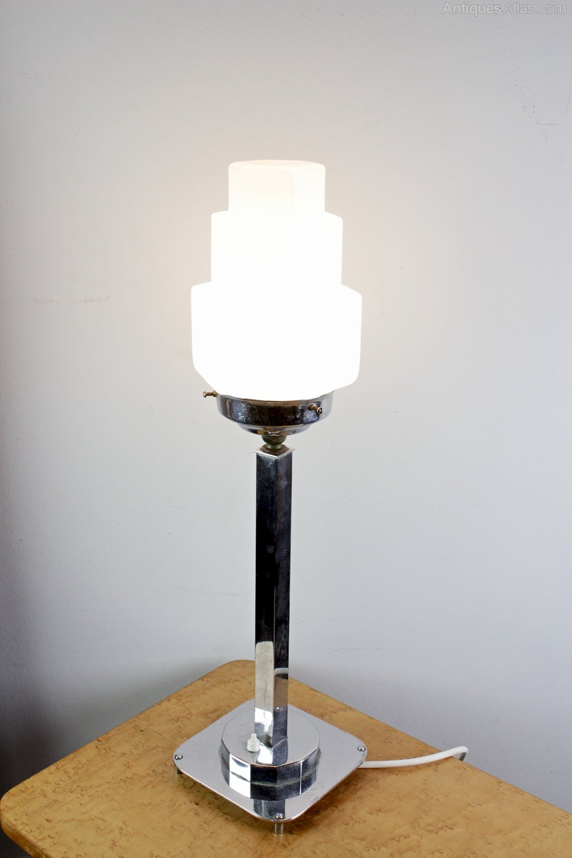 Perfect Art Deco Chrome Table Lamp C1930s ...