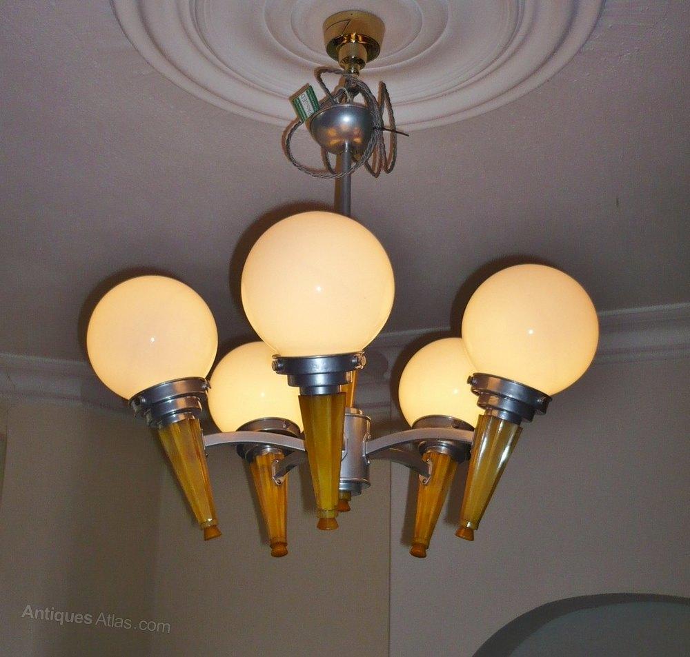 Popular  Art Deco phenolic and aluminiu