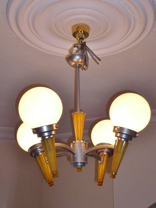 Antiques atlas art deco phenolic and aluminium ceiling light art deco art deco ceiling lights mozeypictures Images