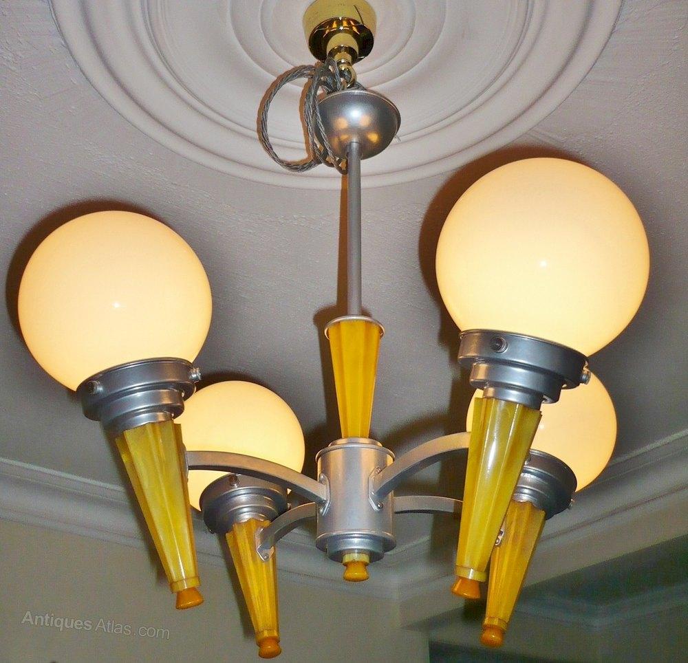 Spectacular  Art Deco phenolic and aluminiu
