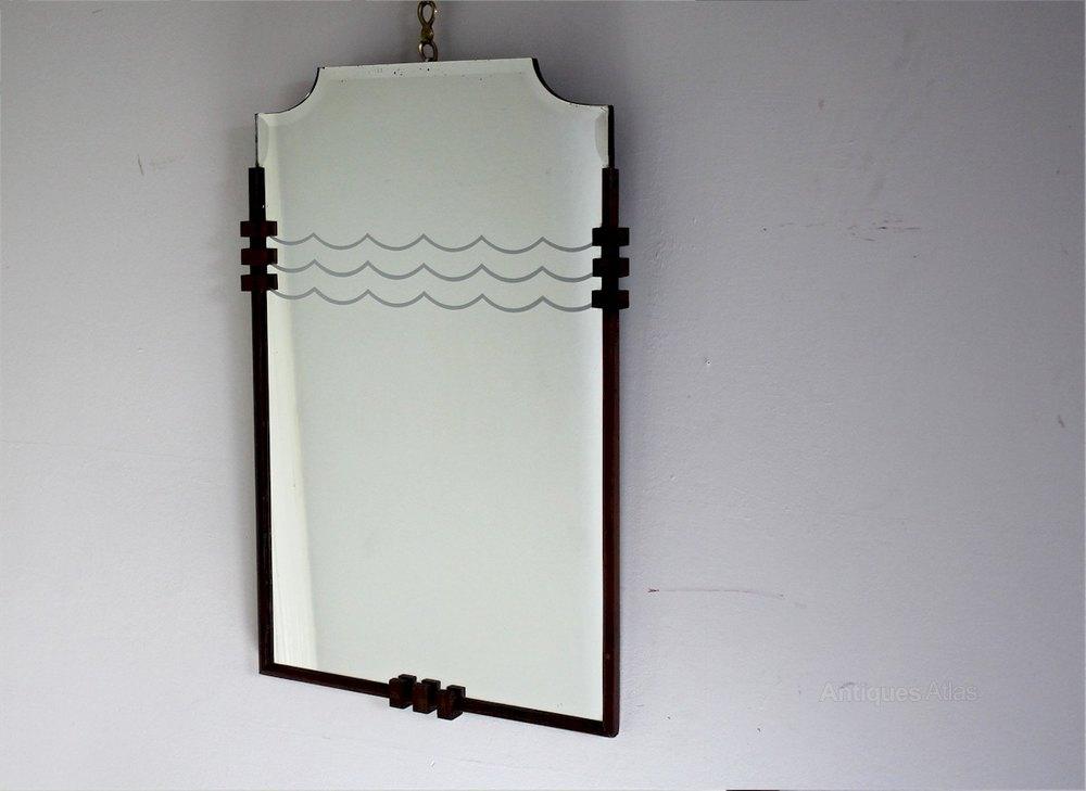 Antiques Atlas - Art Deco Wall Mirror