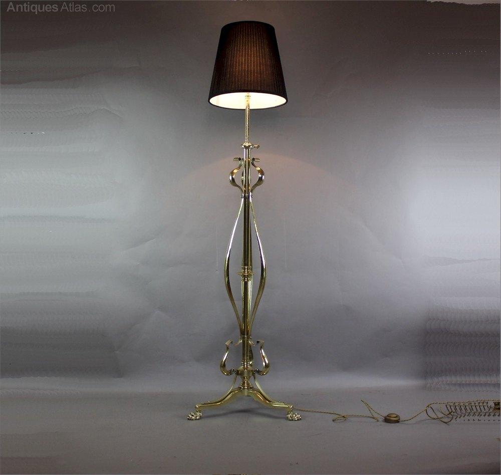 Antiques atlas art nouveau brass adjustable standard floor lamp art nouveau brass adjustable standard floor lamp antique floor lamps mozeypictures Images