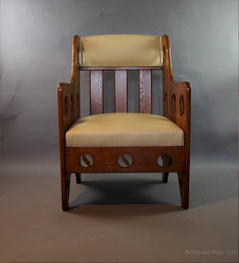 Arts And Crafts Armchair By Goodyers C1900 Antiques Atlas