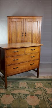 Arts and Crafts Antique Bedside Cabinets and other Bedroom Furniture ...