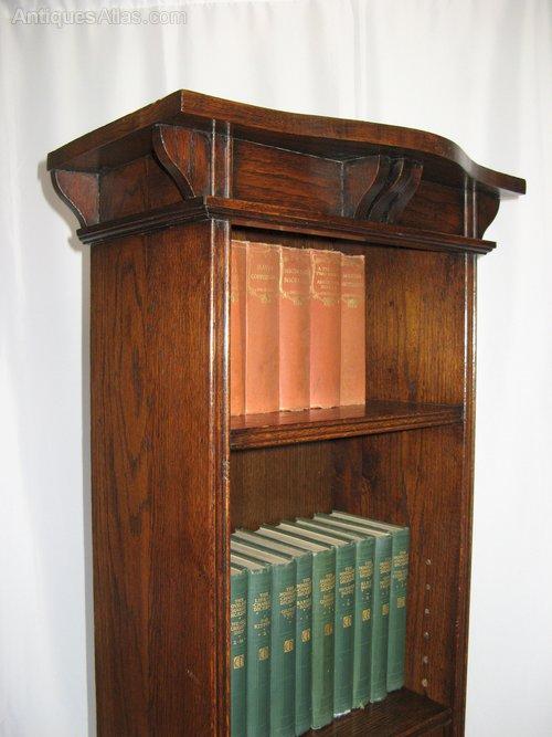 Wonderful Arts And Crafts Tall Narrow Open Bookcase - Antiques Atlas EK47