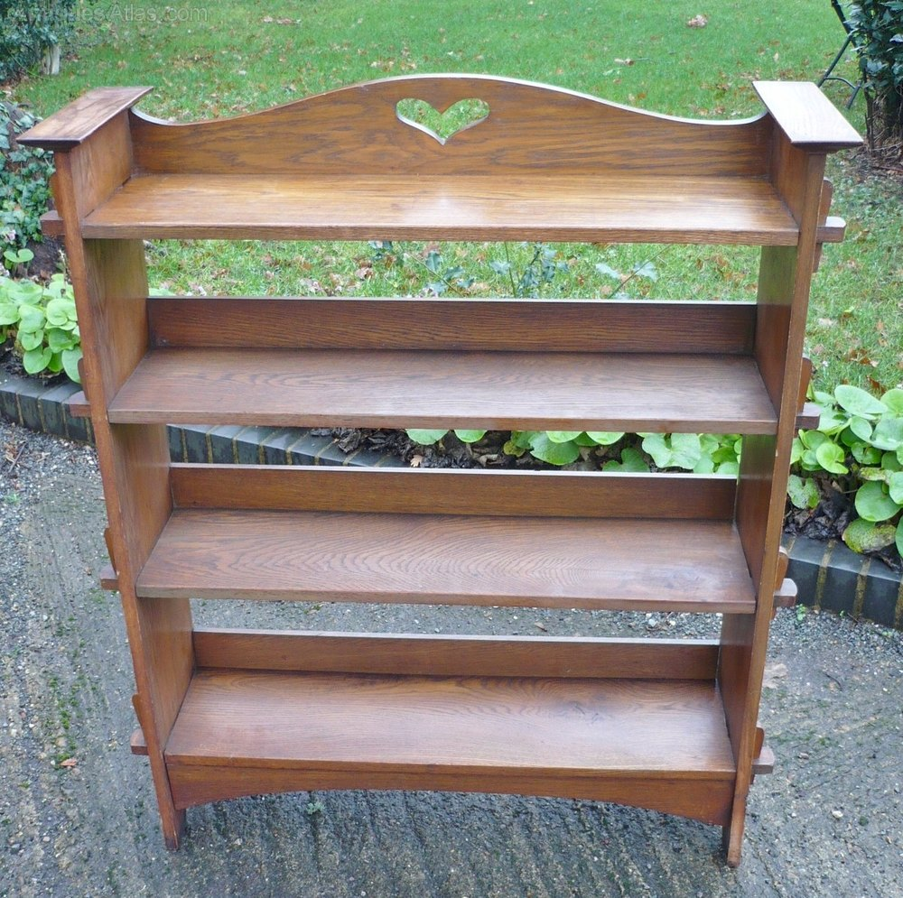 Arts and crafts bookcase of pegged construction for Arts and crafts bookshelf