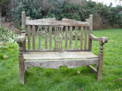 antiques atlas arts and crafts garden bench in teak rh antiques atlas com