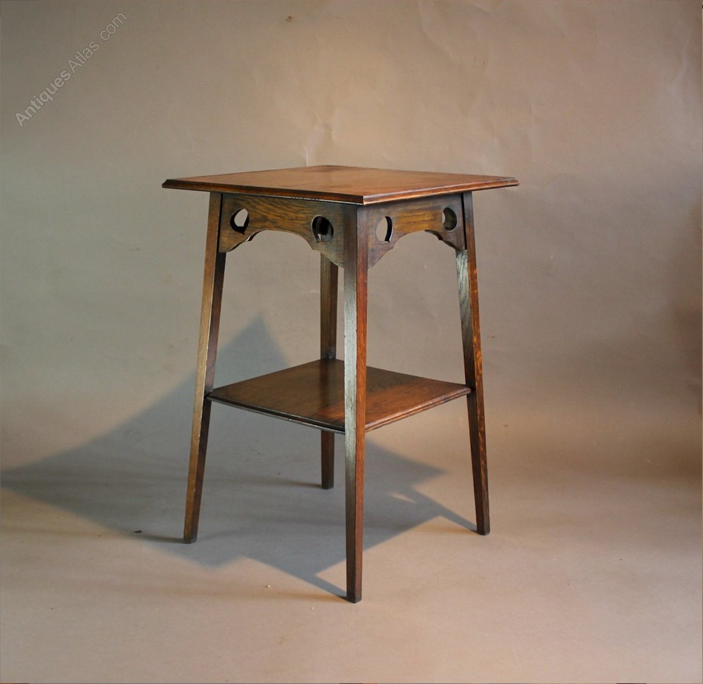 Arts and crafts oak occasional table antiques atlas for Arts and craft tables