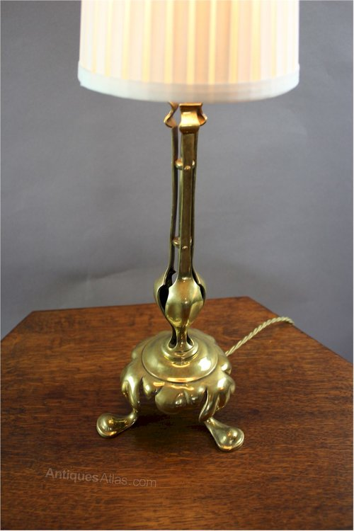 Fresh Arts And Crafts Period Brass Table Lamp