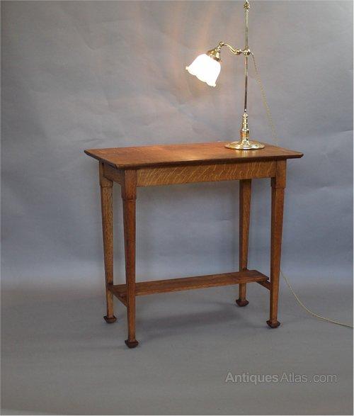Arts And Crafts Quarter Sawn Oak Side Table