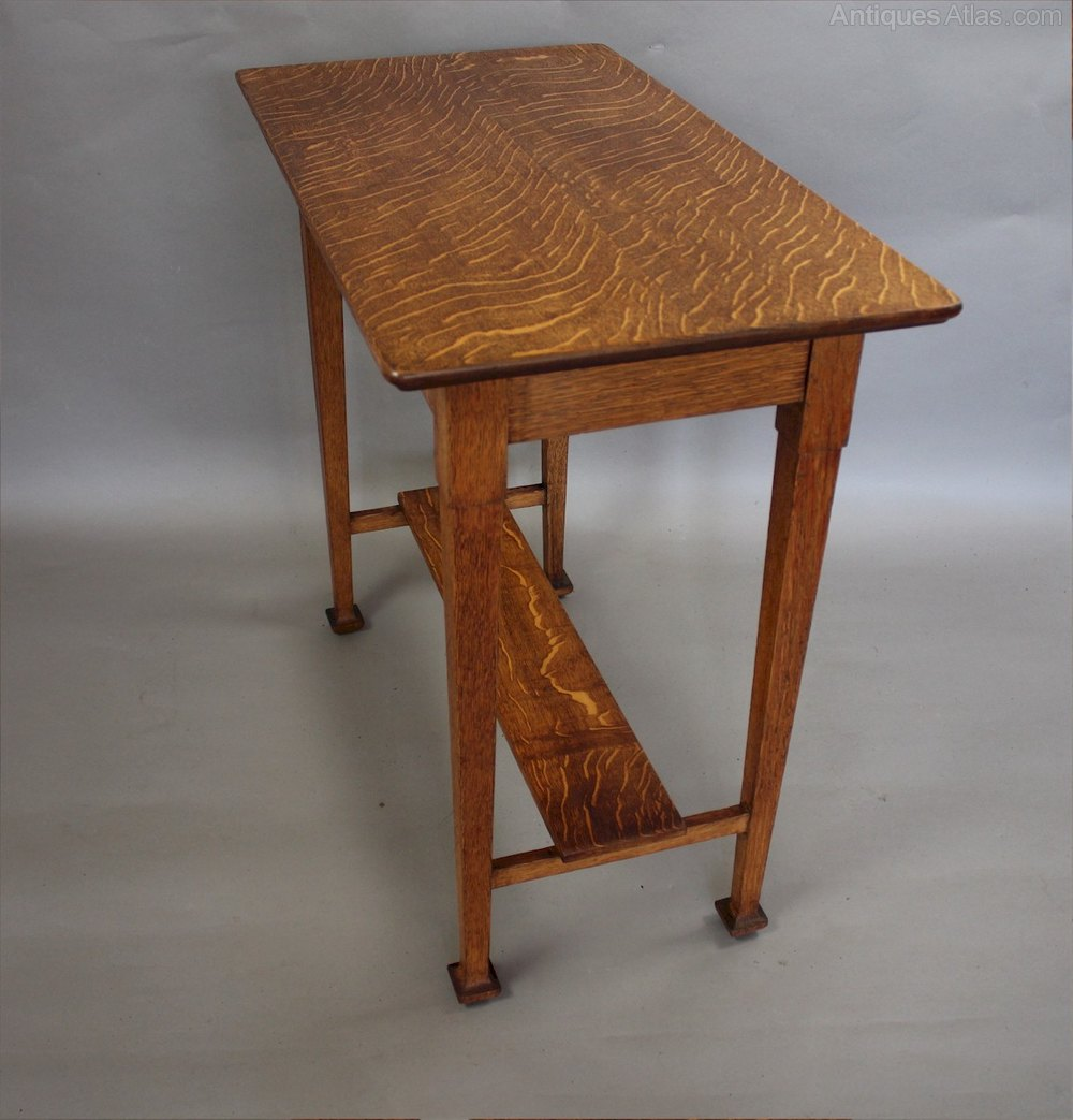 Arts And Crafts Quarter Sawn Oak Side Table Antique Tables
