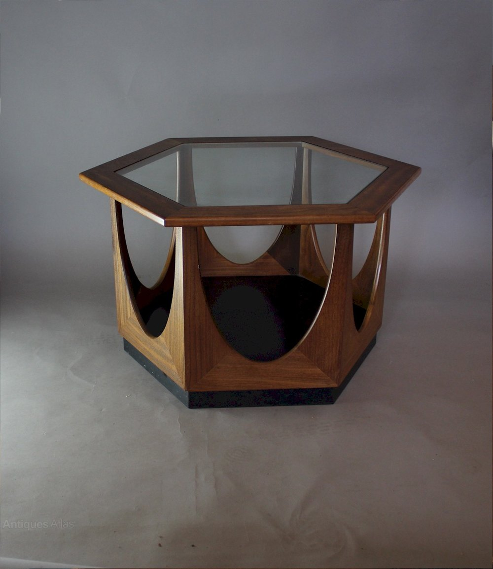 Amazing G Plan Mid Century Teak Hexagonal Coffee Table ...