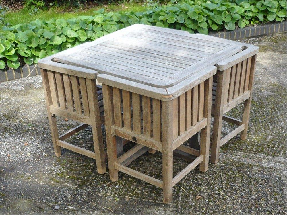 Heals Garden Set , Table , 4 Chairs In Teak