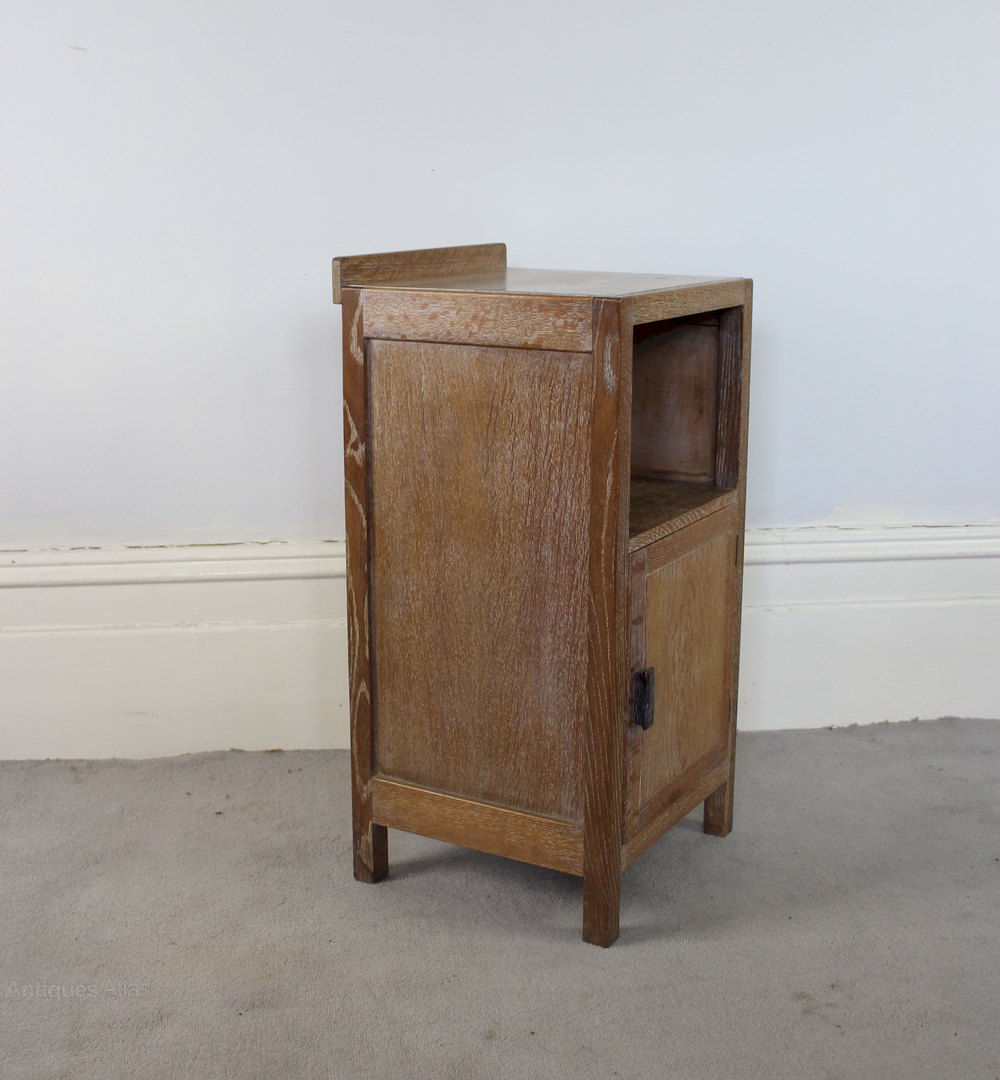 Limed Oak Bedroom Furniture Heals 1930s Limed Oak Bedside Cabinet Antiques Atlas