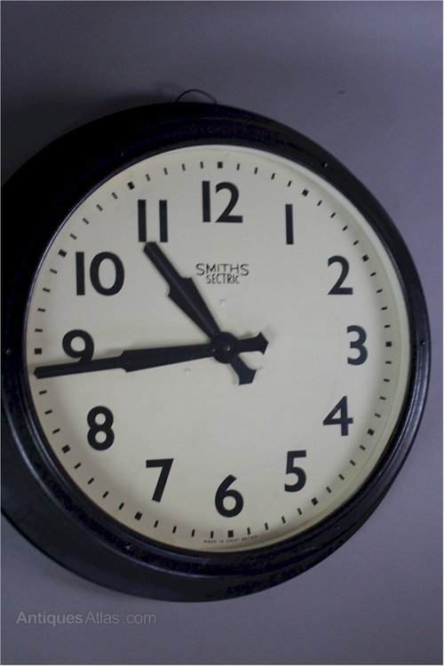 Antiques Atlas Large Smiths Sectric Factory Clock 1940 S