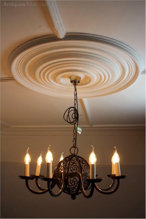 Antiques Atlas Large Arts And Crafts Iron Ceiling Lamp 8