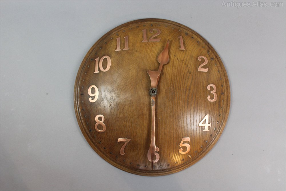 Large Oak Domed Wall Clock By Zenith For Heals Antique Clocks