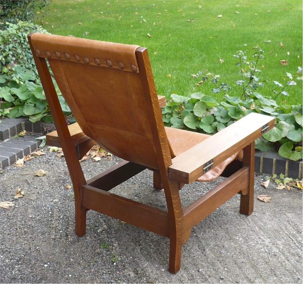 Arts And Crafts Liberty Co Armchair In Oak Antiques Atlas