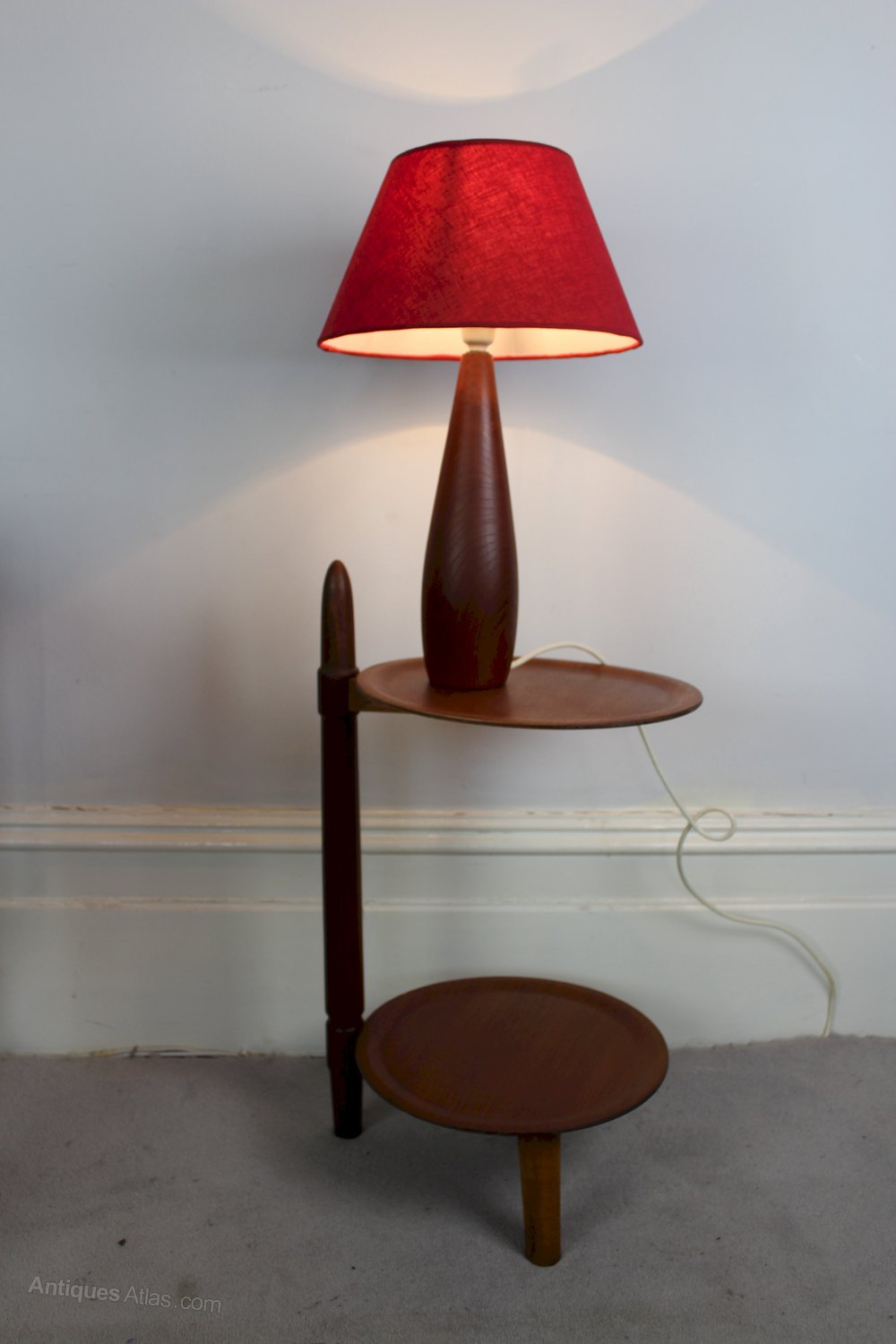 Antiques Atlas - Mid Century Teak Table Lamp C1950