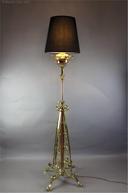 Antiques atlas nouveau highly polished floor lamp by hinks nouveau highly polished floor lamp by hinks aloadofball Choice Image