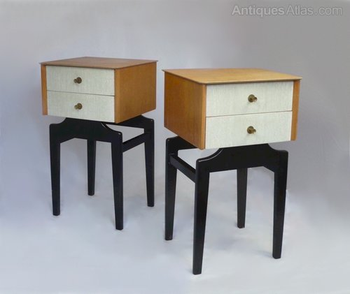 Pair Of Mid Century Modern Bedside Cabinets