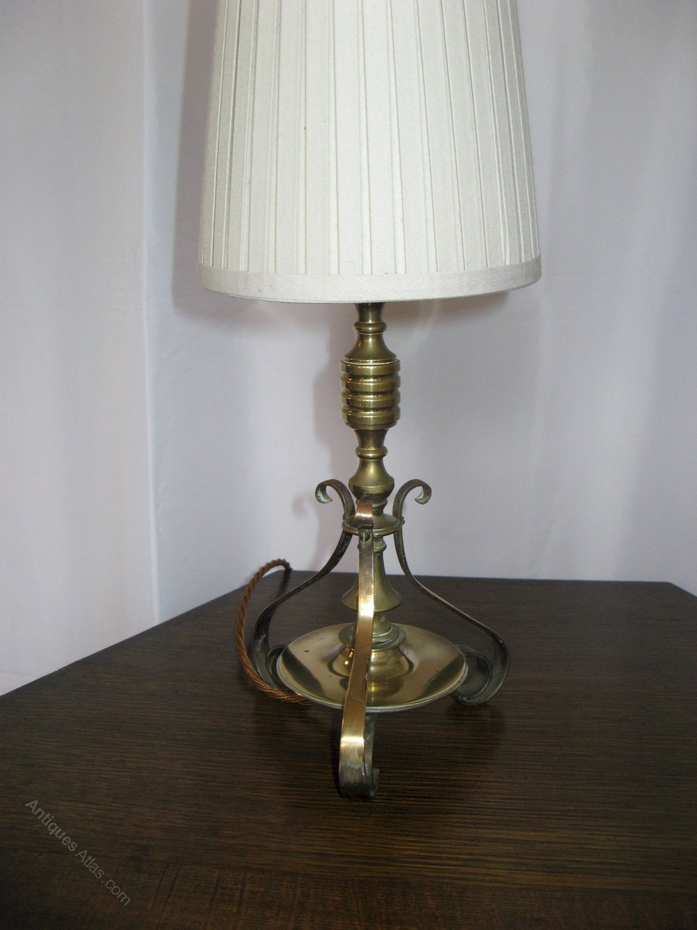 Antiques Atlas Small Edwardian Solid Brass Table Lamp