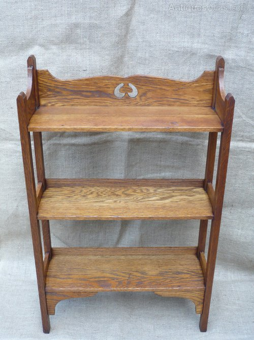 Small Arts And Crafts Bookcase In Oak Antique Bookshelves