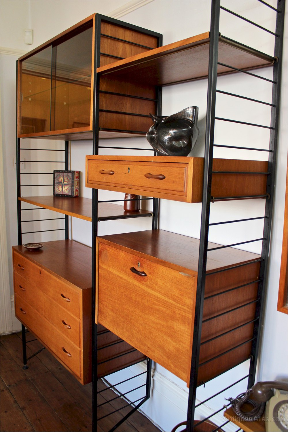 los angeles 61e80 67302 Antiques Atlas - Staples Ladderax Teak Shelving System C1960's