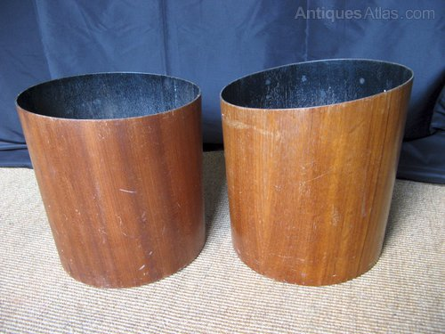 Antiques Atlas - Two 1960's Waste Paper Bins In Teak By Mallod