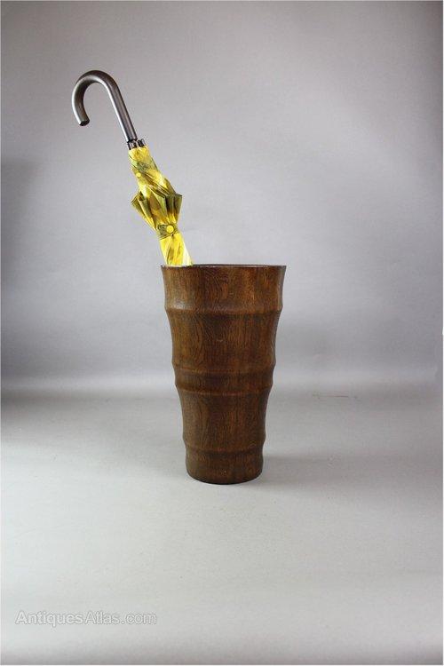 unusual oak stick / umbrella stand of tapered form - antiques atlas Umbrella Stand Uk