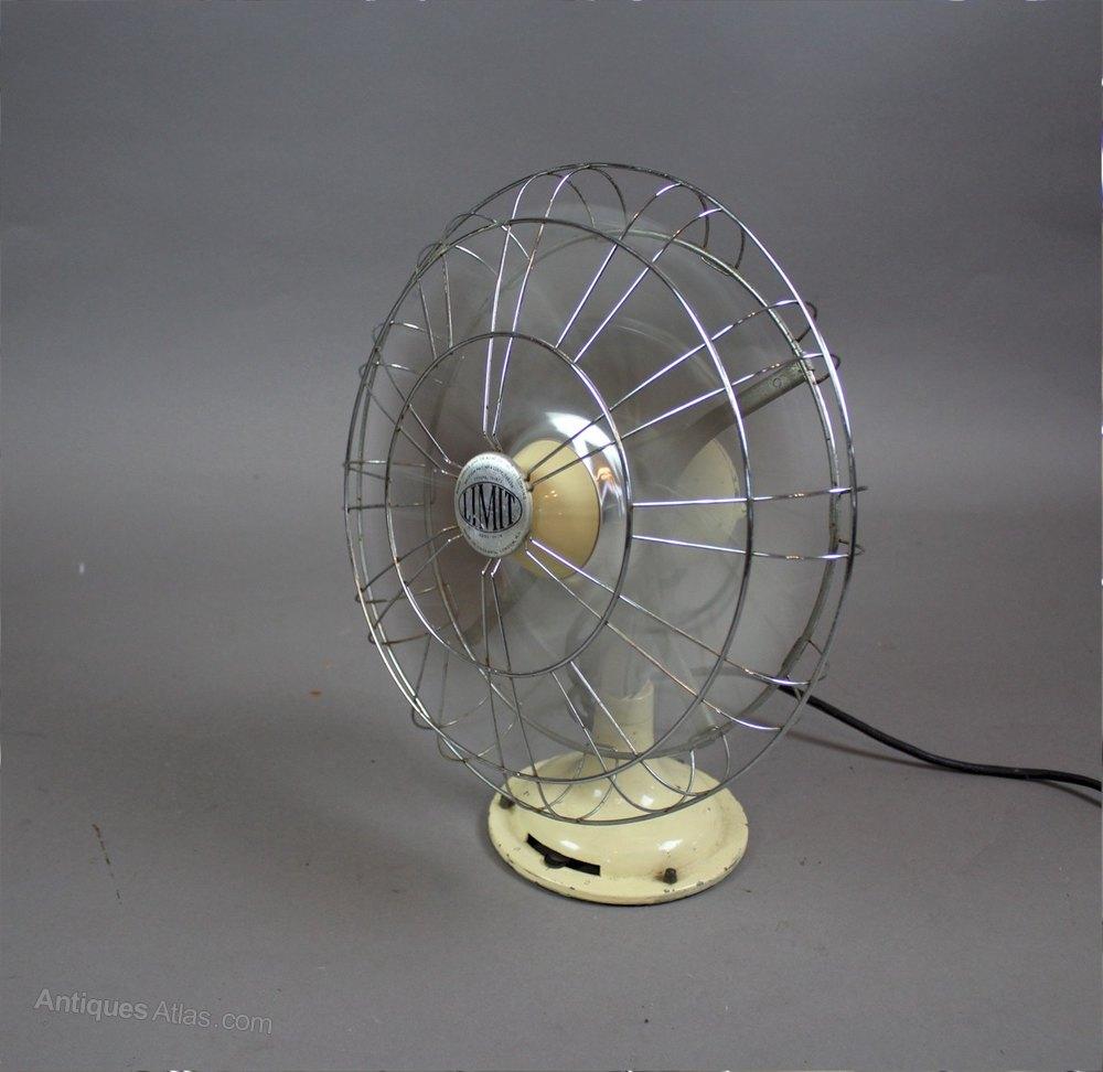 Antiques Atlas Vintage Limit Veritys Electric Desk Fan