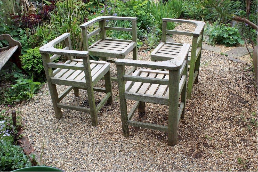 Weathered Teak Garden Set Retailed