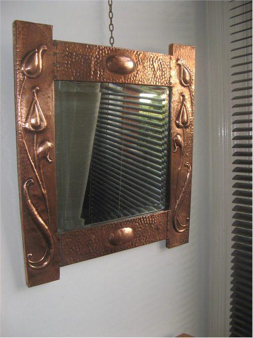 Antiques Atlas - Art Nouveau Copper Wall Mirror