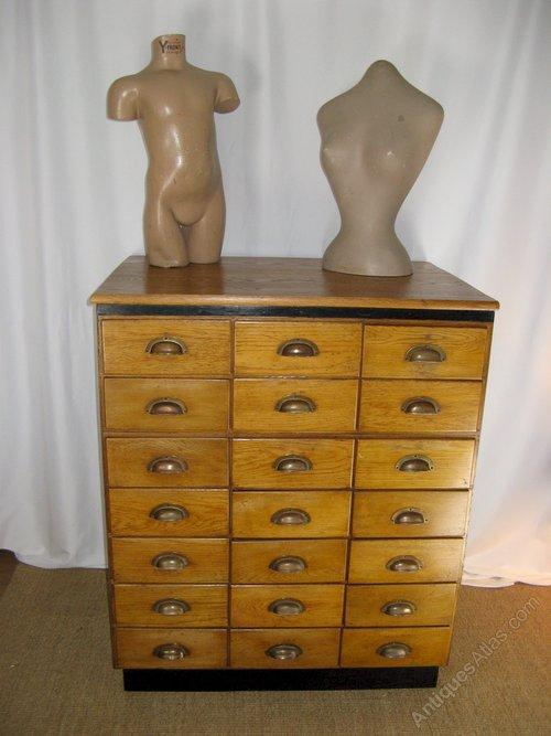 Haberdashery Cabinet Of 21 Drawers In Oak ...