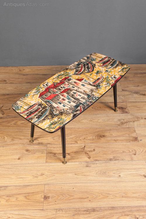 antiques atlas - 1950s 1960s retro coffee table