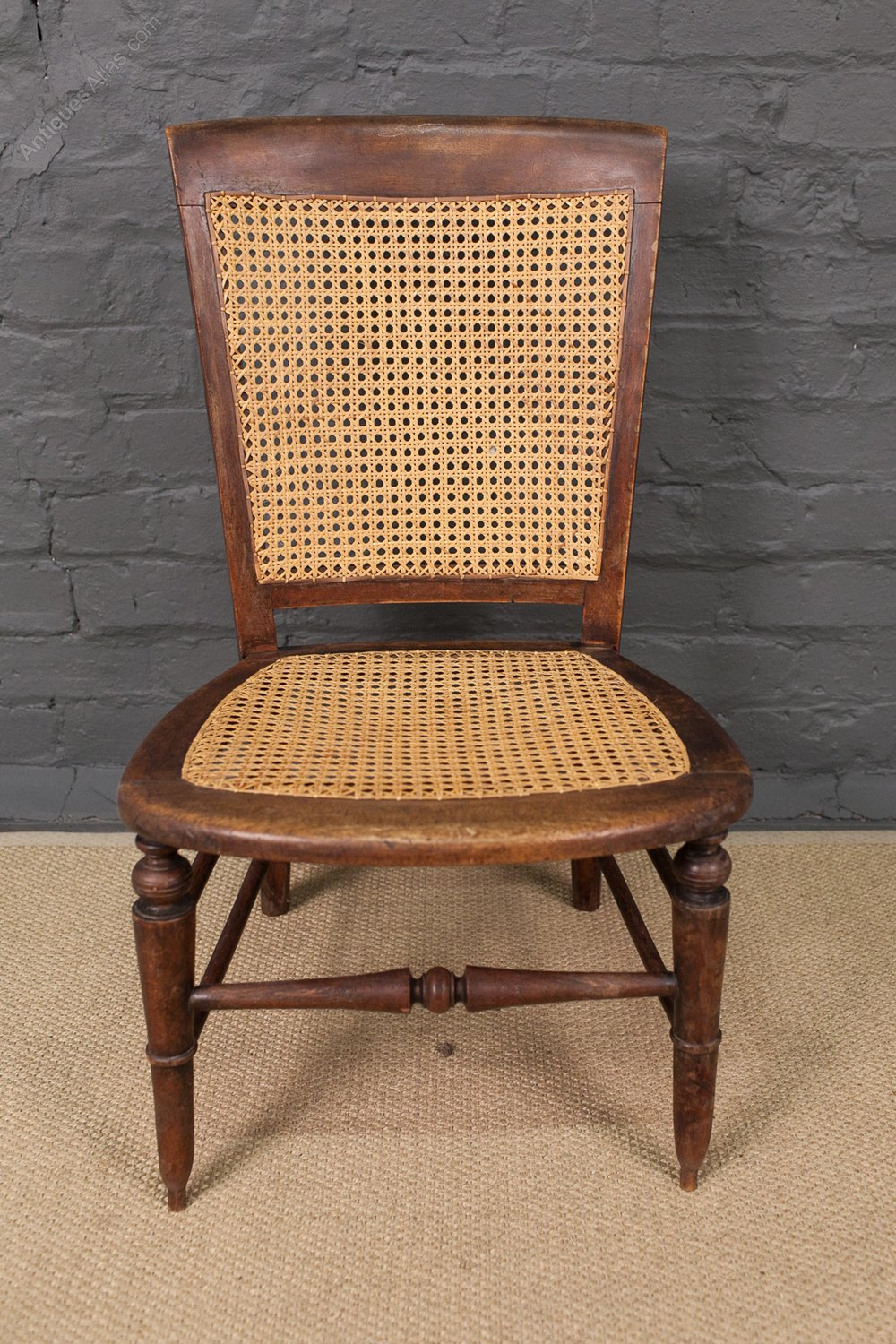 19th century cane back chair