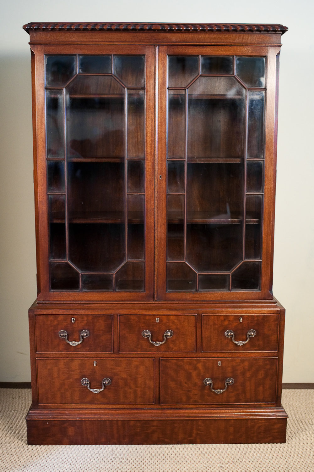 mahogany display cabinet antiques atlas a mahogany display cabinet on base 3954