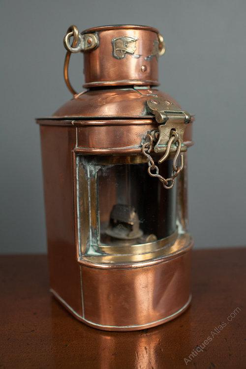 Copper Mast Head Ships Lantern Antique