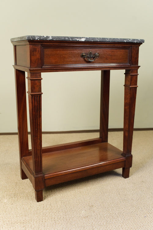 Mahogany Marble Top Side Table ...