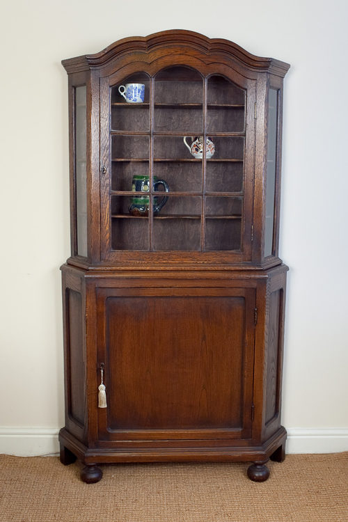 antique oak display cabinet antiques atlas oak display cabinet 4118