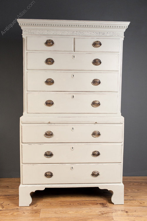 hot sale online 2355d e30dd Painted George III Mahogany Tallboy