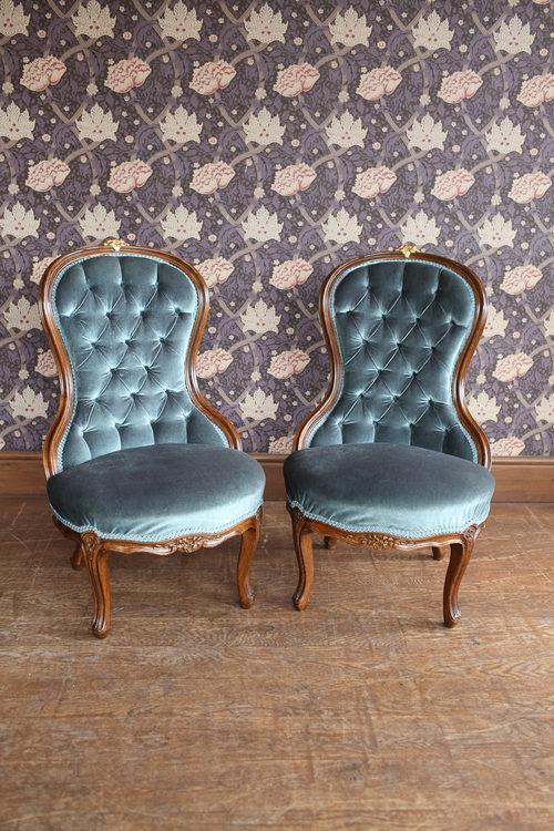 Bon Pair Of Victorian Style Nursing Chairs