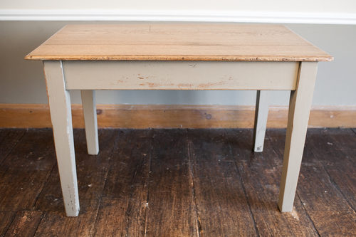 Oak Kitchen Table Solid oak painted kitchen table antiques atlas solid oak painted kitchen table workwithnaturefo