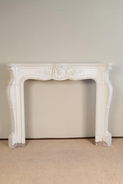 White Fire Surround Part - 38: White Painted Fire Surround ...
