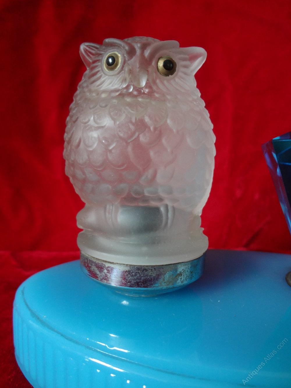 Antiques Atlas Art Deco Owl Table Lamp