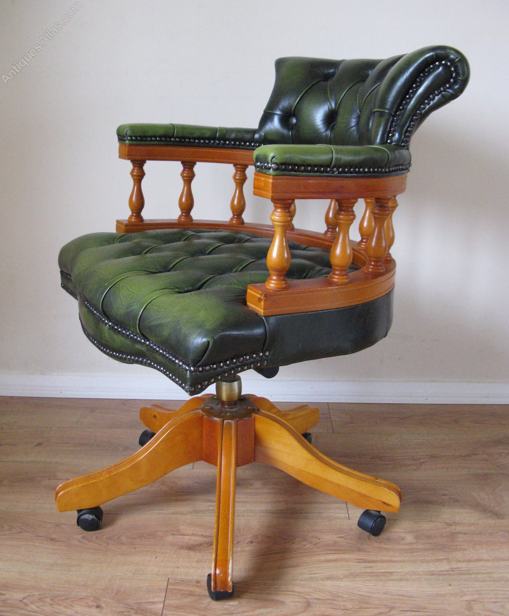 Chesterfield Office Desk Armchair Vintage Swivel and Revolving Chairs ... & Antiques Atlas - Chesterfield Office Desk Armchair