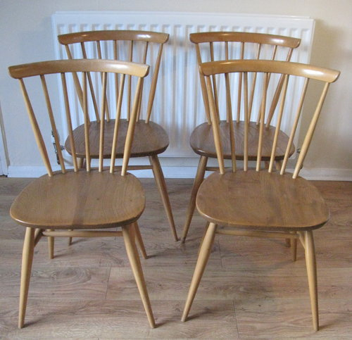 Antiques Atlas Ercol Retro Dining Chairs Golden Dawn