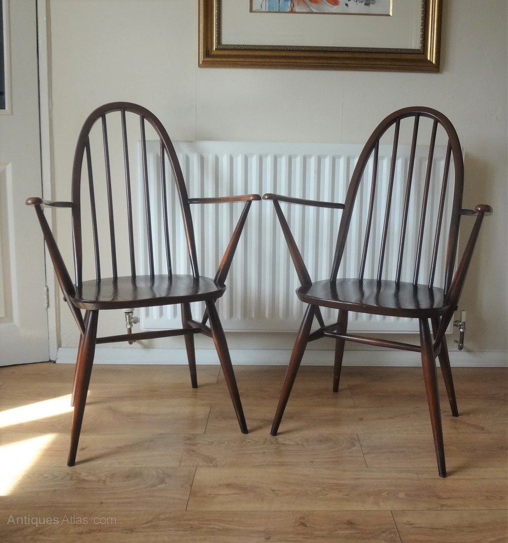 Antiques Atlas Ercol Windsor Quaker Carver Chairs