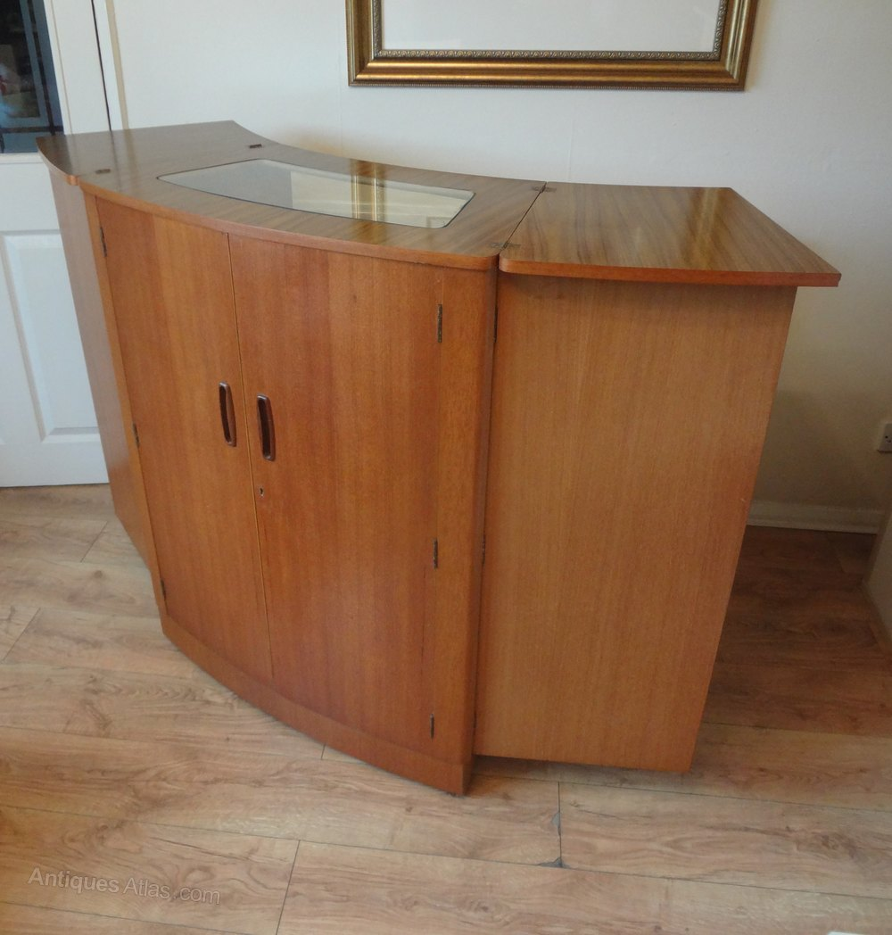 S Glass And Formica Cabinet Bar